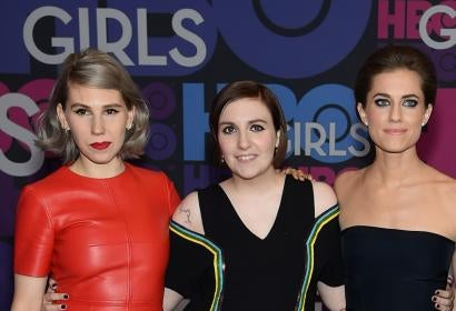 "Zoysia Mamet, Lena Dunham and Allison Williams of ""Girls"""