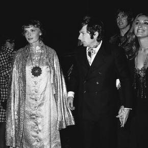 Mia Farrow, Roman Polanski and Sharon Tate in Cannes 1968