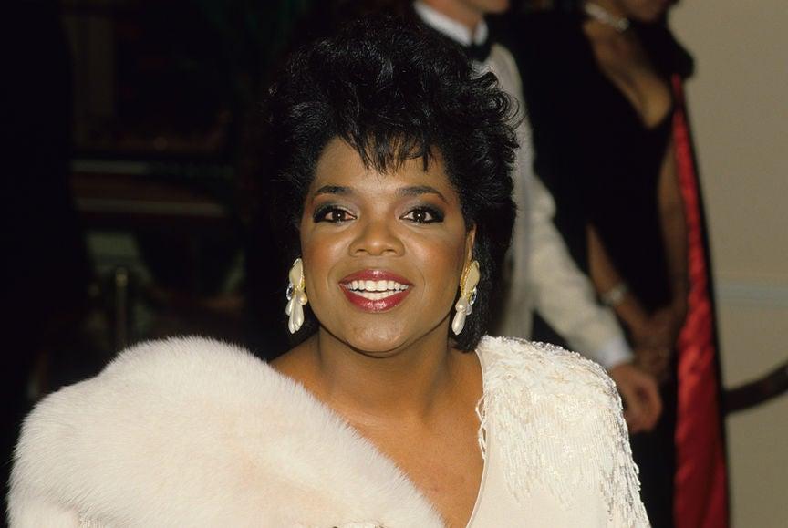 Oprah Winfrey at the 1986 Golden Globe Awards