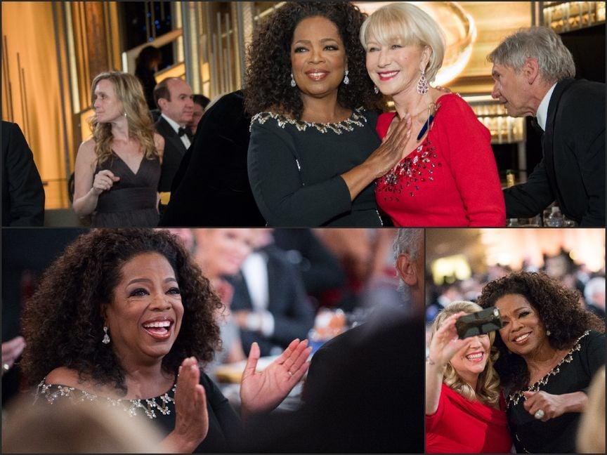 Oprah at the 2015 Golden Globe Awards