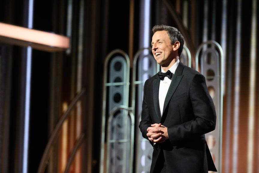 Host Seth Meyers, 75th Golden Globes