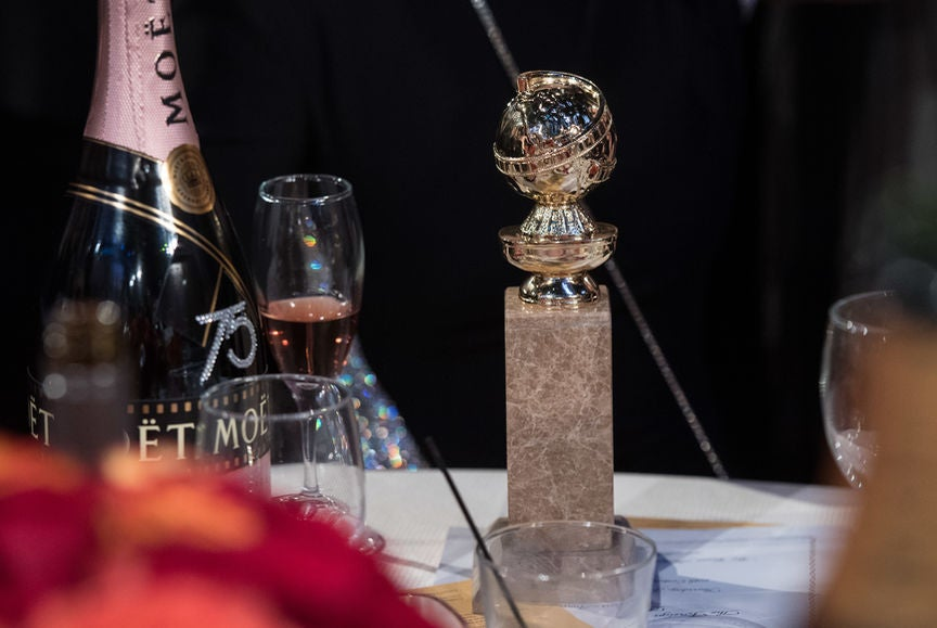 Table at the 75th Golden Globes