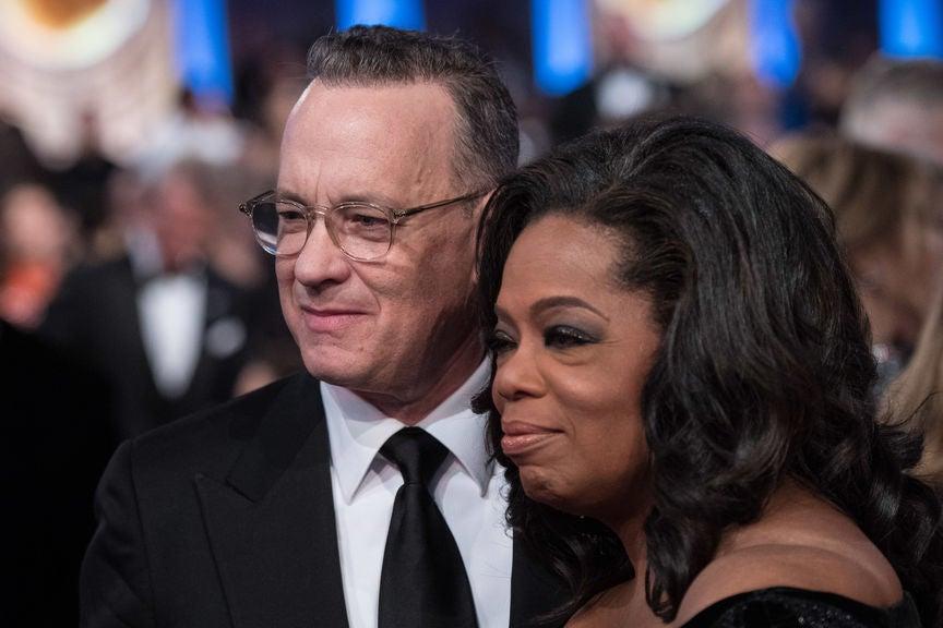 Oprah Winfrey and Tom Hanks