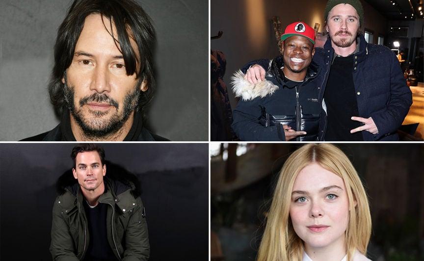 Keanu Reeves, Jason Mitchell, Garrett Hedlund, Matt Bomer and Elle Fanning at 2017 Sundance Film Festival