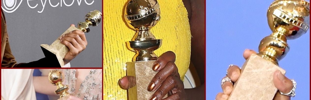 Close ups of hands of winners of the 74th Golden Globe Awards