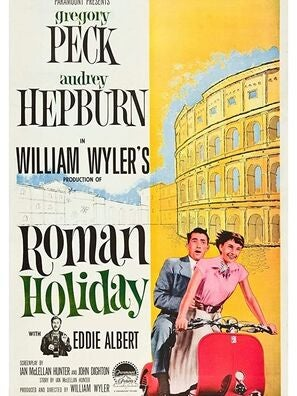 "The poster for ""Roman Holiday"", 1953"