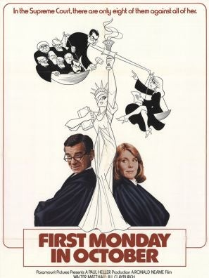 First Monday in October movie poster