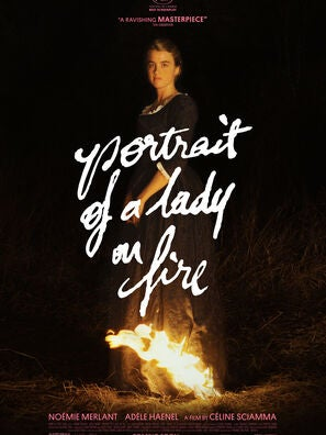 Poster fro Portrait ofa Lady on fire, 2019