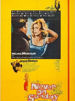 Never on Sunday movie poster