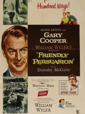 Golden Globe nomineee Friendly Persuasion, 1956