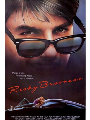 Risky Business movie poster