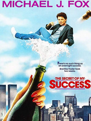 """""""The Secret of My Success"""" movie poster"""