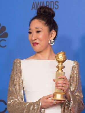 Actress Sandra Oh wins at te 76th Golden Globes
