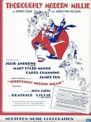 Cover of sheet music for Thoroughly Modern Millie