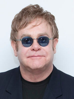 Composer and musician Elton John, Golden Globe winner