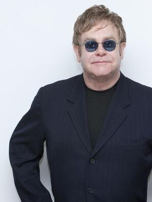 Composer and musician Elton John, Golden Globe winner