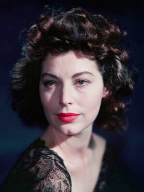 Actress Ava Gardner, Golden Globe nominee
