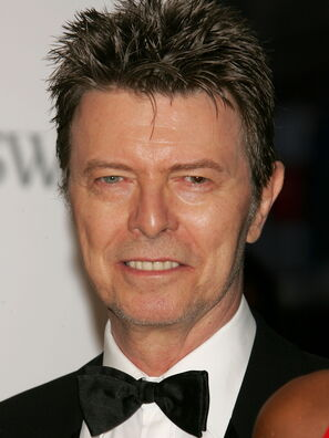 Actor, singer, composer David Bowie, Golden Globe nominee