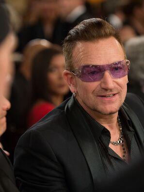 Musician and perfomer Bono, Golden Globe winner