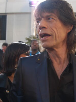 Rockstar Mick Jagger at the 2005 Golden Globes