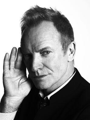 Musician and actor Sting, Golden Globe winner