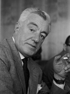 Photograph of actor and director Vittorio De Sica circa 1962