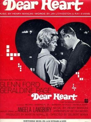 Cover of sheet music for Dear Heart