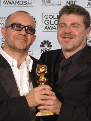 Bernie Taupin and Gustavo Santaolalla, Golden Globe winners
