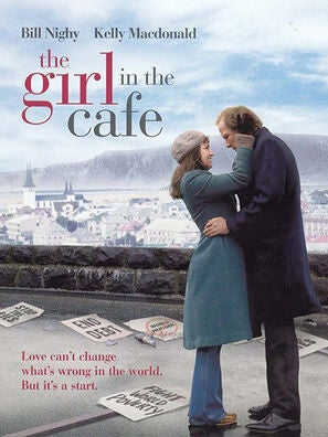 The Girl in the Cafe tv movie poster
