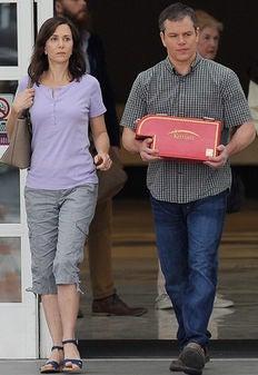 "Scene from ""Downsizing"" with Kristen Wiig and Matt Damon"