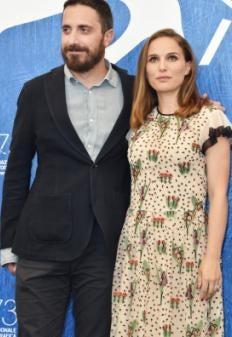 Director Pablo Larrain and Natalie Portman, Golden Globe winner, in Venice 2016