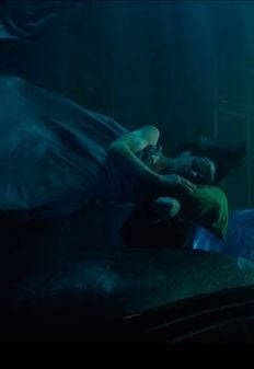A scene from the film The Shape of Water, featuring Sally Hawkins