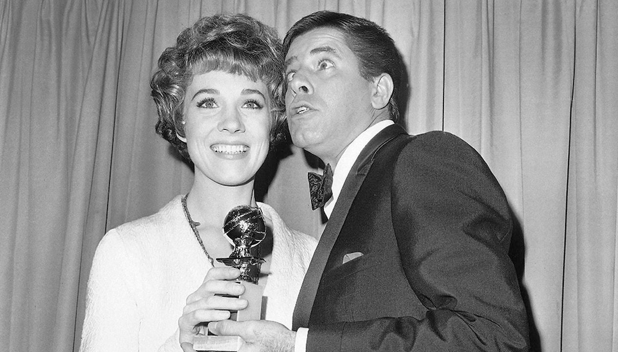 Jerry Lewis, Golden Globe nominee, and Julie Andrews, Golden Globe winner, 1966