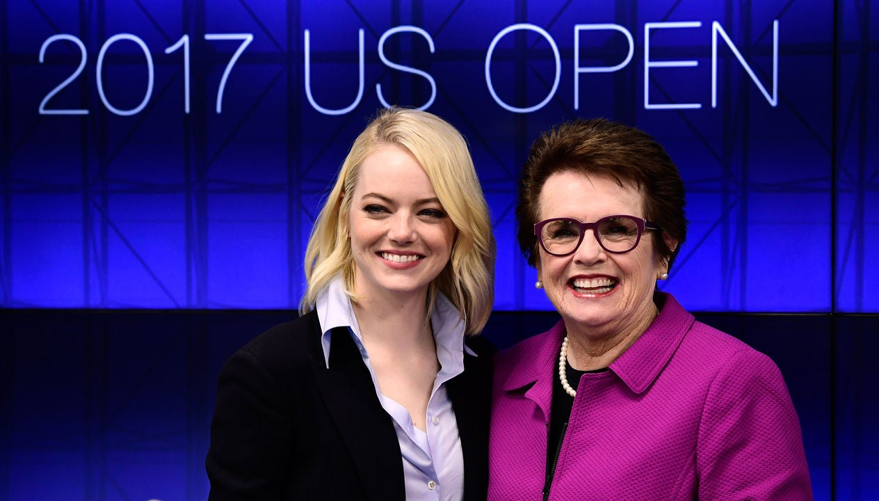 Billie Jean King and Emma Stone
