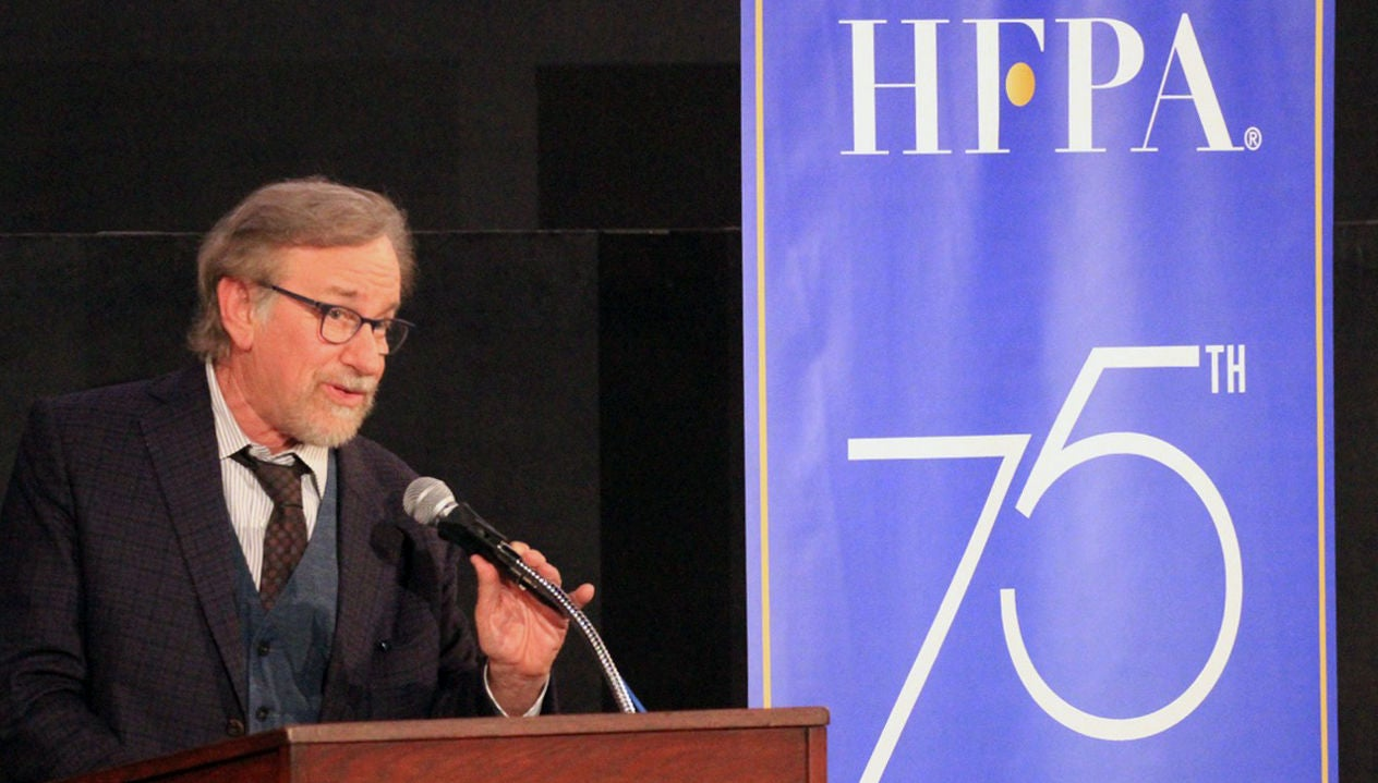 "Filmmaker Steven Spielberg, Golden Globe winner, presents ""A Face in the Crowd"" at the Film Foundation restoration series"
