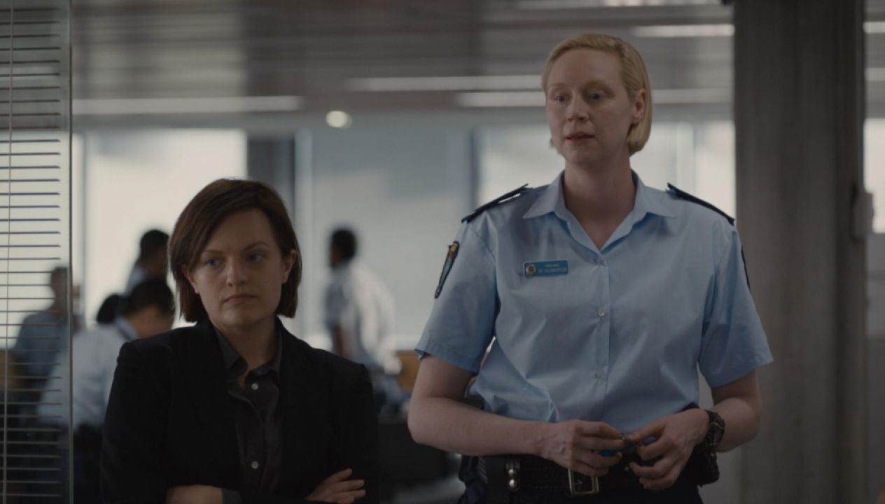 Elsiabeth Moss and Gwendoline Christie in a scene from Top of The Lake: China Girl
