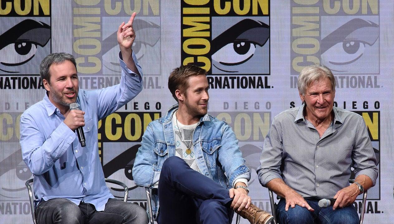 Denis Villeneuve, Ryan Gosling and Harrison Ford