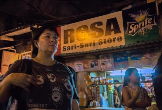 """A scene from """"Ma' Rosa"""" , Philippines"""
