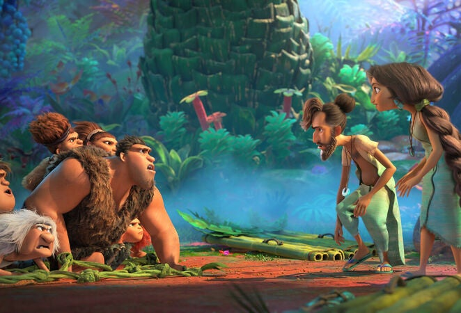 "A scene from ""The Croods:A New Age"", 2020"