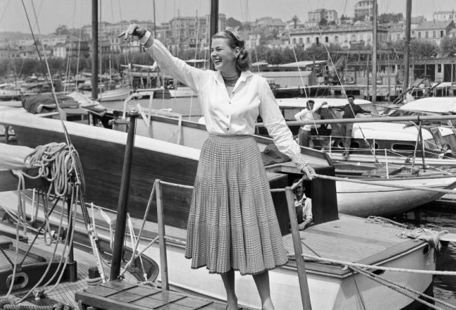 Actress Ingrid Bergman in Cannes 1956