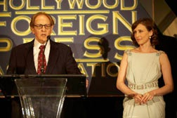 HFPA president Philip Berk with actress Vera Farmiga