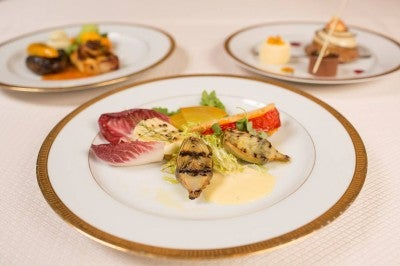The three course dinner for the 70th Golden Globe Awards
