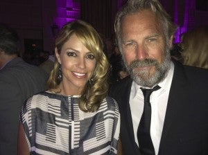 Costner and wife