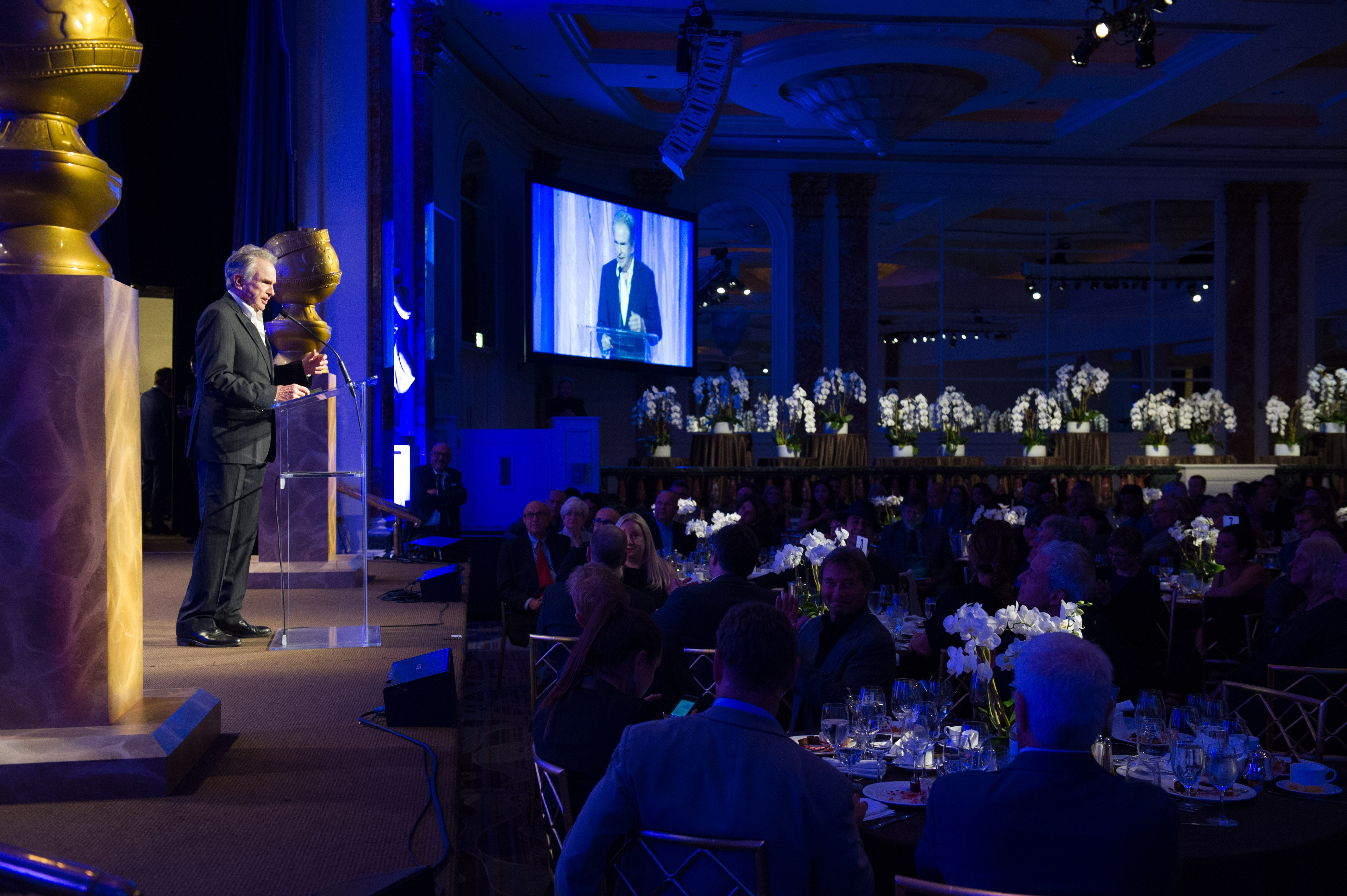 Warren Beatty presents grants at the 2016 Grants Banquet